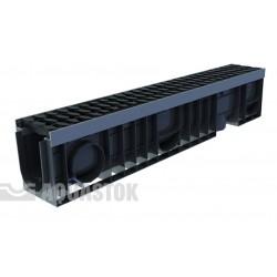 Лоток водоотводный пластиковый ЛВП PROFI DN100 H200 E600 комплект