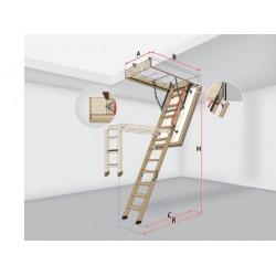 Чердачная лестница с люком LWT Thermo (суперэнергосберегающая)