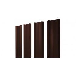 Штакетник М-образный А 0,5 Velur20 RAL 8017 шоколад